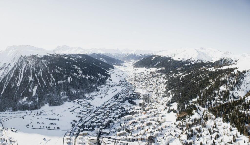 Vu aérienne de la vallée