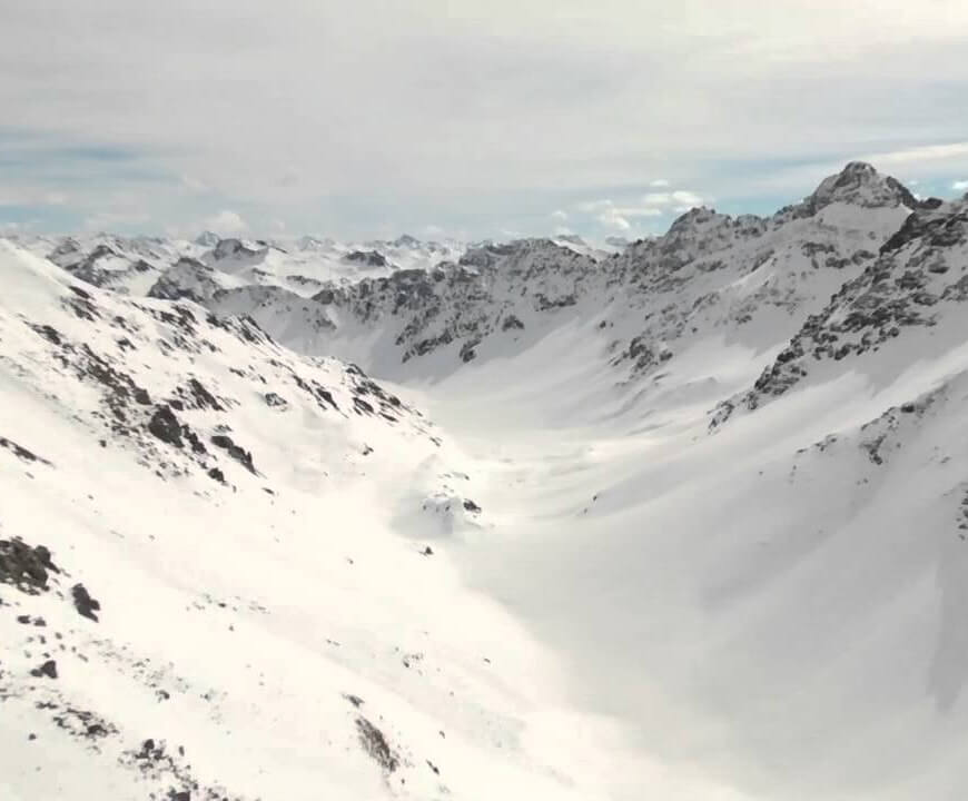 Snowy summits in Arosa-Lenzerheide