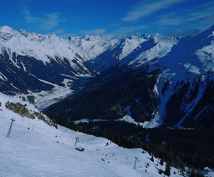 Ski slopes in Davos