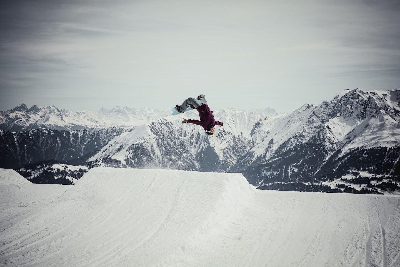 Snowboardeur à Laax
