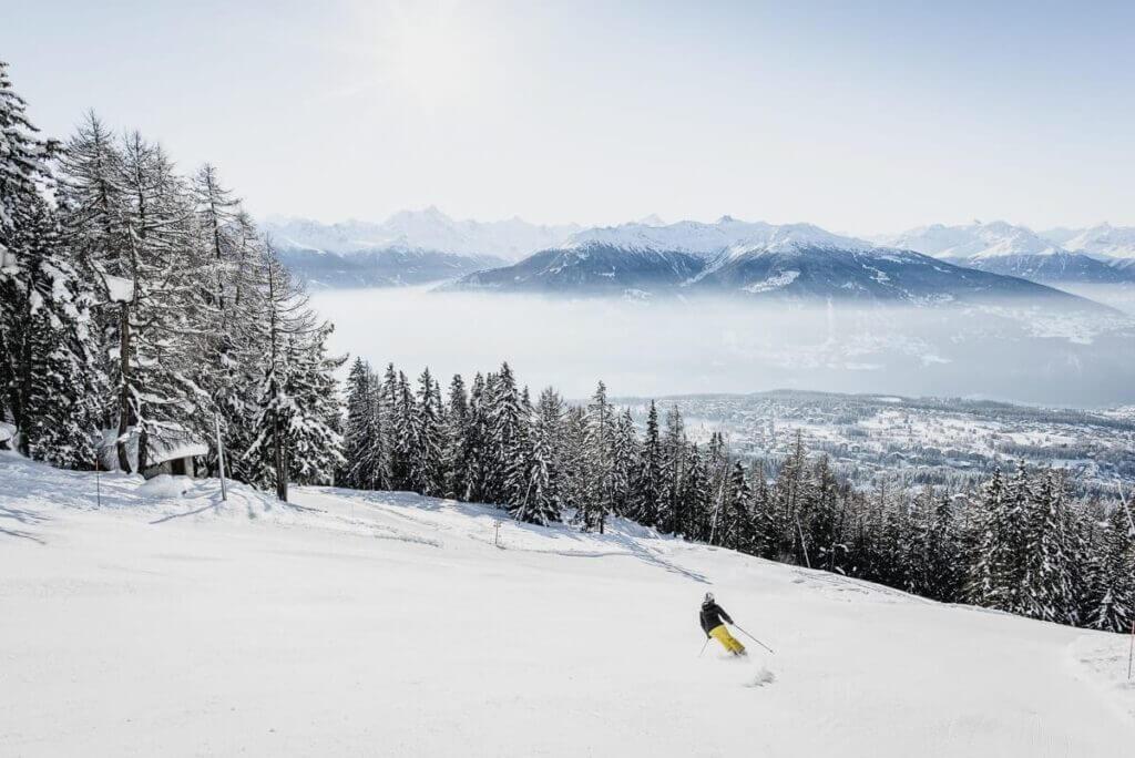 Pistes de ski avec vue