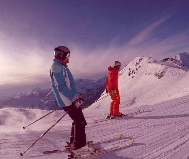 Skier in Portes du Soleil