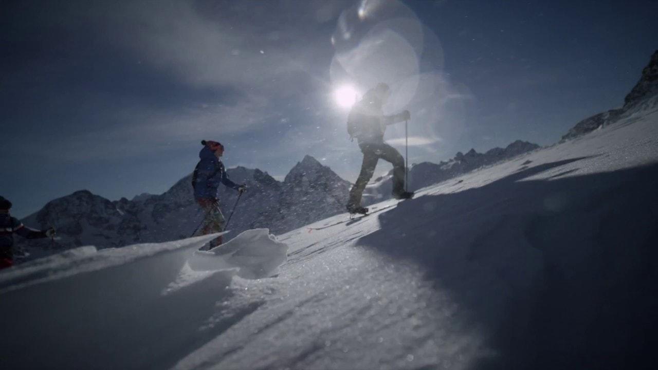 Skieurs à St. Moritz