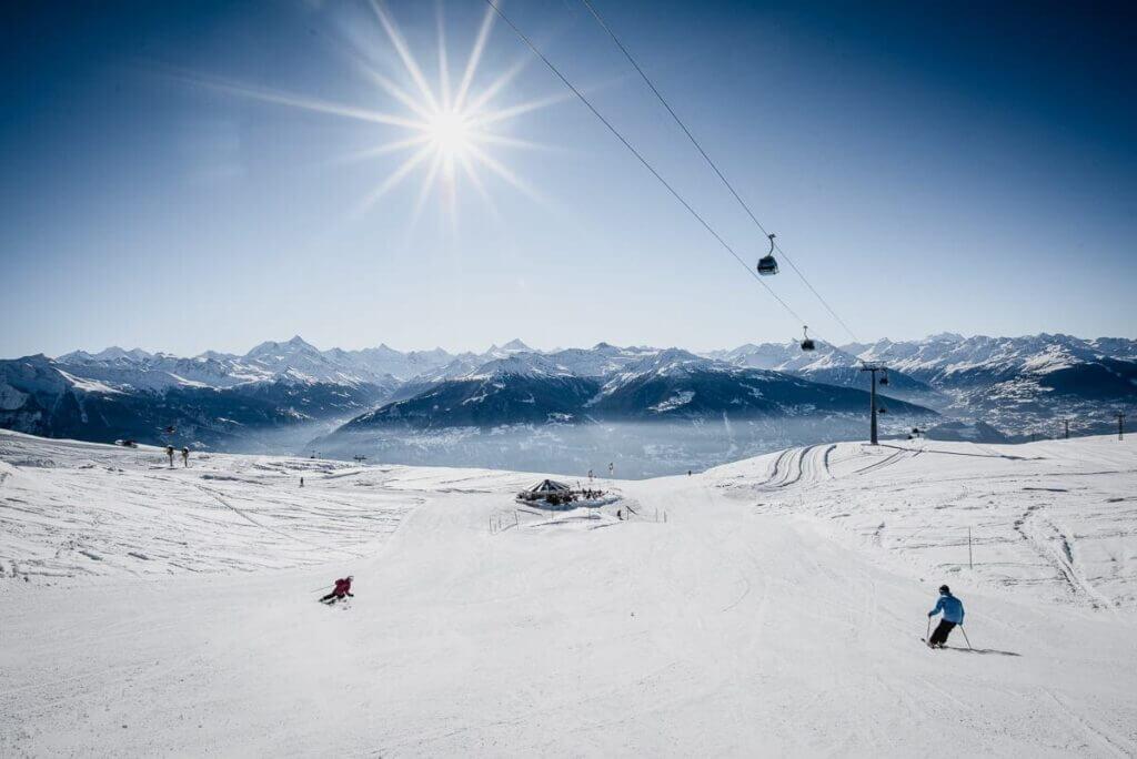 Pistes de ski à Crans-Montana